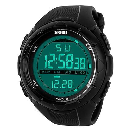dbe512cdbaa9 TTLIFE 1025 al aire libre Hombres Reloj Deportivo multifunción LED Relojes  de pulsera 50 m resistente