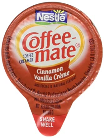 Liquid Coffee Creamer Cinnamon Vanilla 0375 Oz Mini Cups 50box Sold As 1 Box 50 Each Per Box