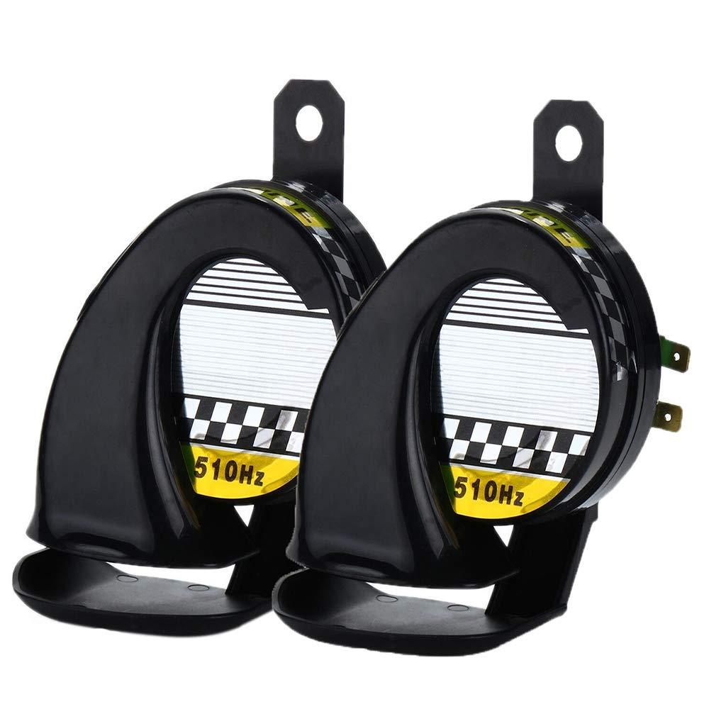 Dicrey Universal Car Horn 12V Vehicle of Motorcycle Truck Boat Kit for Trucks 150 db Electric Loud Snail Air Horn Siren Waterproof 2PCS by Dicrey