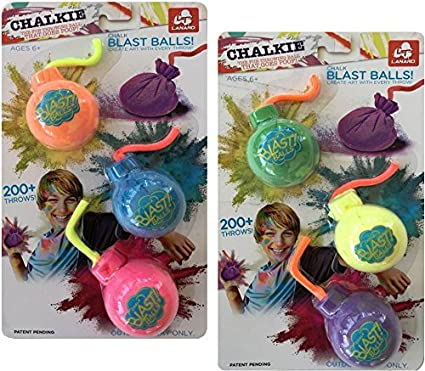 Chalk Blast Powder Bombs in (6) Assorted Colors