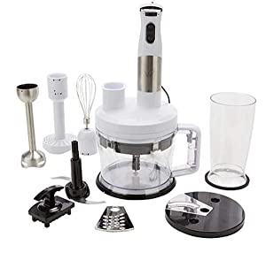 Wolfgang Puck 12-Cup Food Processor with Immersion Blender~ 7-in-1 (White)
