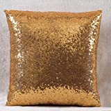 Solid Color Glitter Sequins Throw Pillow Case Cafe Home Decor Cushion Covers (gold)