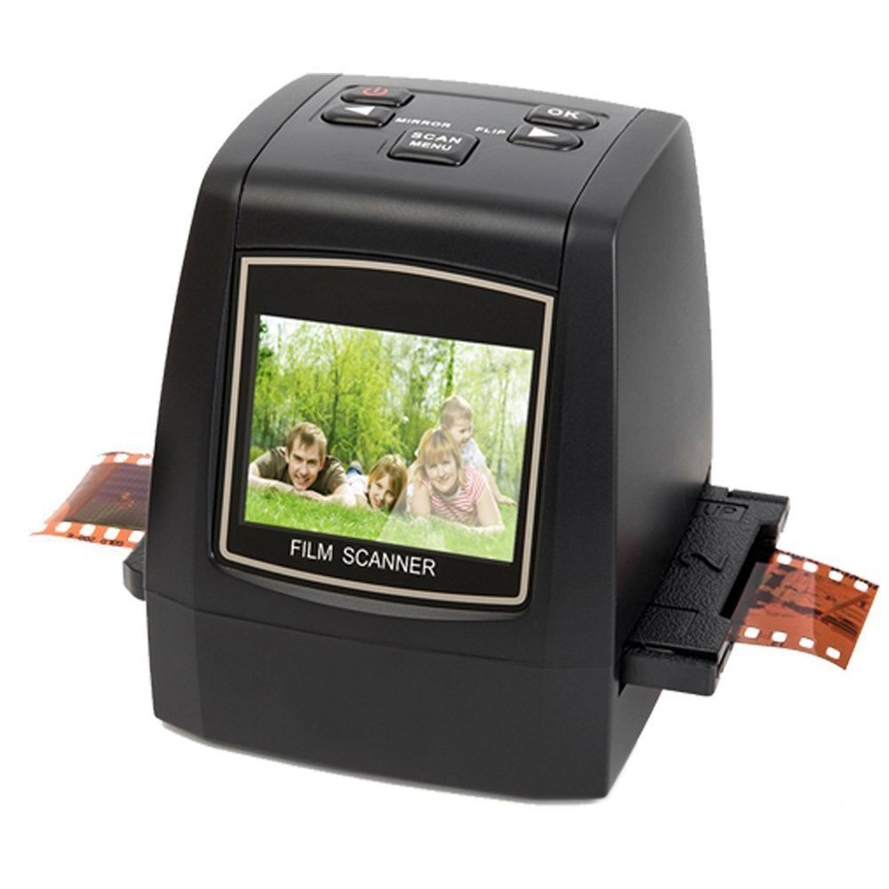 DIGITNOW Photo Scanner 35mm/135slides& Negatives Film Scanner Photo, Name Card, Slides and Negatives to Digital Converter for Saving Films to Digital Files in 4GB SD Card(Included) with Photo Editing BR