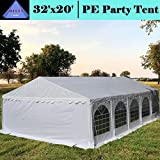 DELTA Canopies Budget PE Party Tent Canopy Shelter White – 32'x20′