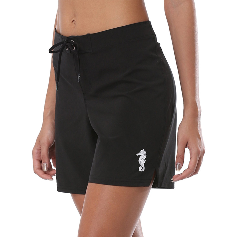 Vegatos Womens Stretch Swim Shorts Swimsuit Bottom Seahorse Beach Boardshorts