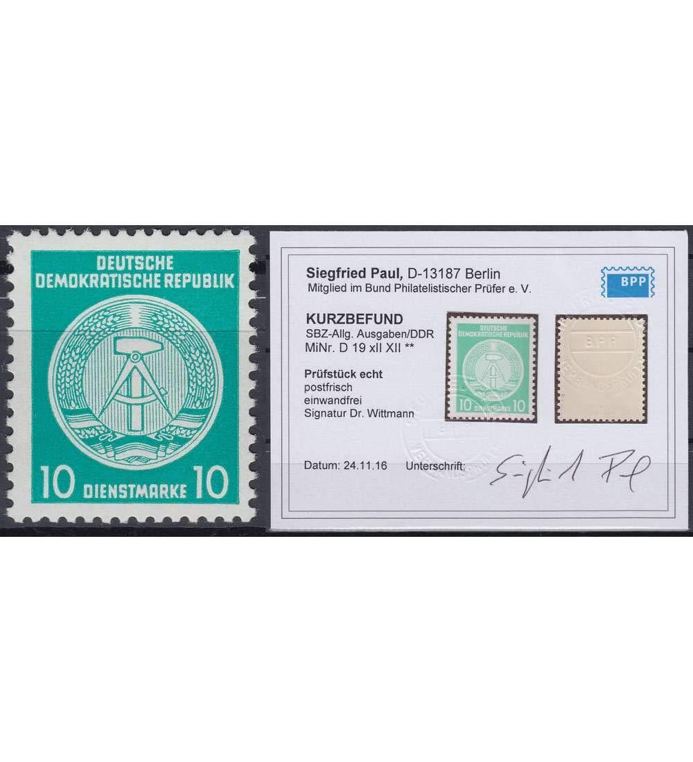 Goldhahn DDR Dienstmarke Nr. A A A 19 XII XII postfrisch  mit Fotobefund Paul Briefmarken für Sammler 791e83