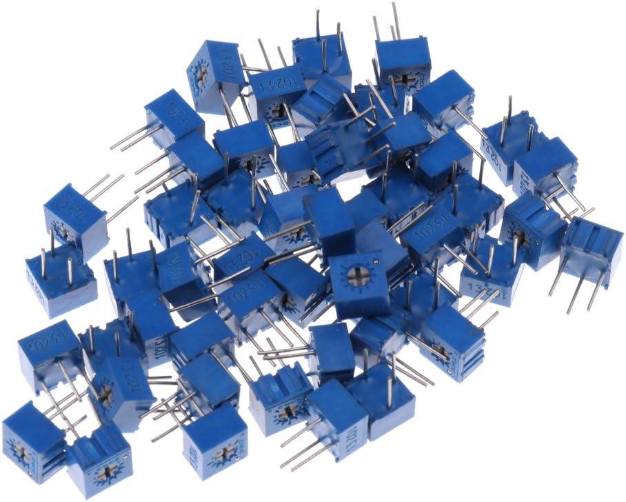 50x 1K Ohm Potentiometer Adjustable Resistors Cermet Trimmer Potentiometer