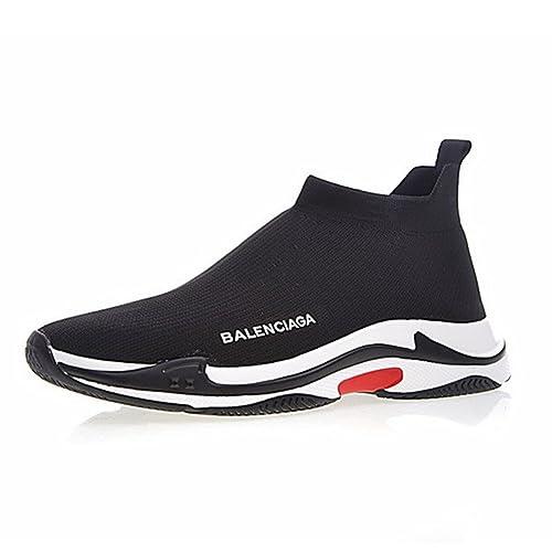 Balenciaga Triple-S Knit Sneakers - Unisex Adulto Hombre Mujer Zapatillas de Running Zapatos Deportivos - Negro: Amazon.es: Zapatos y complementos