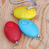 VHLL Egg Shape Self Defense Alarm Girl Women Security Protect Alert Personal Safety Scream Loud Keychain Alarm New
