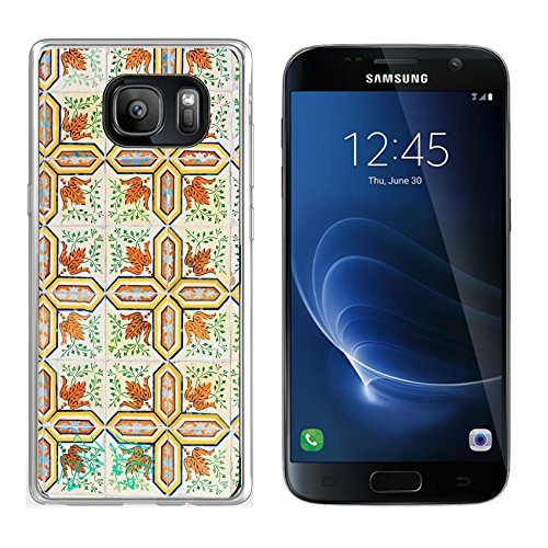 Luxlady Samsung Galaxy S7 Clear case Soft TPU Rubber Silicone IMAGE ID: 26268846 Close up image of the beautifully decorated tiles on the houses in the streets of Lisbon P