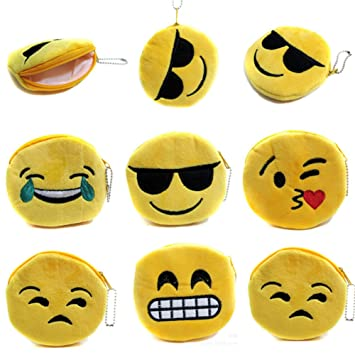 Amazon.com: Cute Emoji Coin Purse Smal Pouch, Pack of 5 (Mixed ...