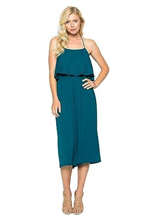 c793da41a8a Annabelle women halter tube top wide leg midi jumpsuit coral blue small jpg  297x445 Tube top