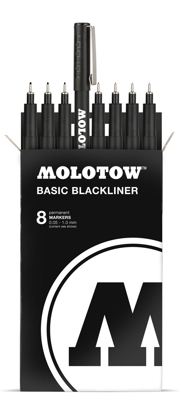 MOLOTOW BASIC Blackliner Complete Set 8pcs: Amazon.de: Bürobedarf &  Schreibwaren