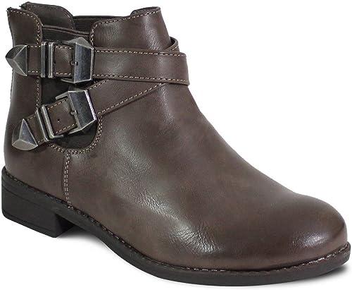 Shoes Rock By Femme Bottine Plate Style fIb7g6yvmY