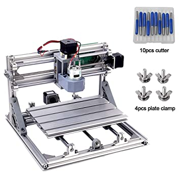 Diy Cnc Router Kits 2418 Grbl Control 3 Axis Plastic Acrylic Pcb Pvc Wood Carving Milling