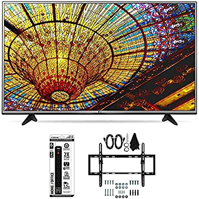 LG 49UH6030 - 49-Inch 4K UHD Smart LED TV w/ webOS 3.0 Tilt Wall Mount Bundle includes TV, Flat & Tilt Wall Mount Ultimate Kit and 6 Outlet Power Strip with Dual USB Ports