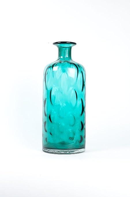 Amazon Home Decor Glass Vase Hand Blown Glass Art Teal