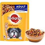 Pedigree Adult Wet Dog Food, Grilled Liver Chunks Flavour in Gravy with Vegetables, 70g Pouch