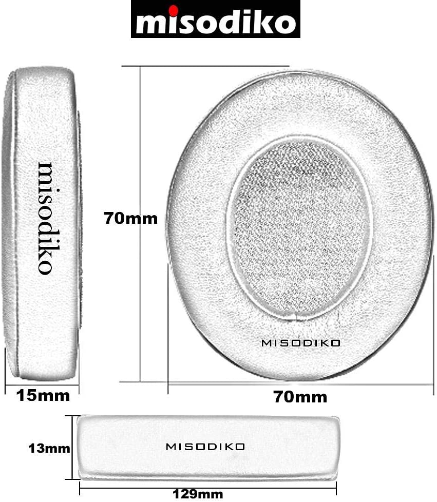 Misodiko Kit de Housse de Coussin de Rechange pour Casque Sennheiser HD25 HD25-1 II et /écouteurs en Velours Noir