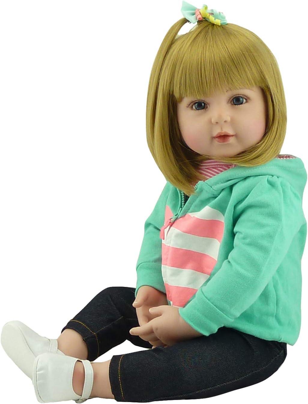 Zero Pam 60cm 24 Pulgadas Bebe Reborn niña Reborn Toddler muñeca Encantadora Chica Realista muñecas Vinilo de Silicona Suave al Tacto