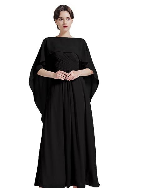 Shawl Wrap Chiffon Scarf For Women Evening Dresses Wedding Stole Black by BEAUTELICATE