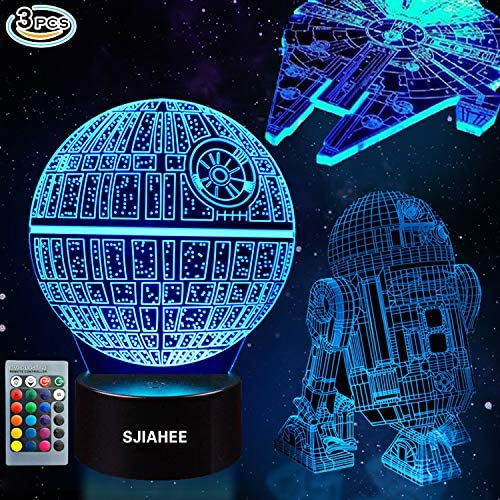3D Star Wars Lamp - Star Wars Gifts - Star Wars Light - Optical Illusion Led Light - Star Wars Lamp& Perfect Gifts for Kids and Star Wars Fans (3 Packs) 141[並行輸入]