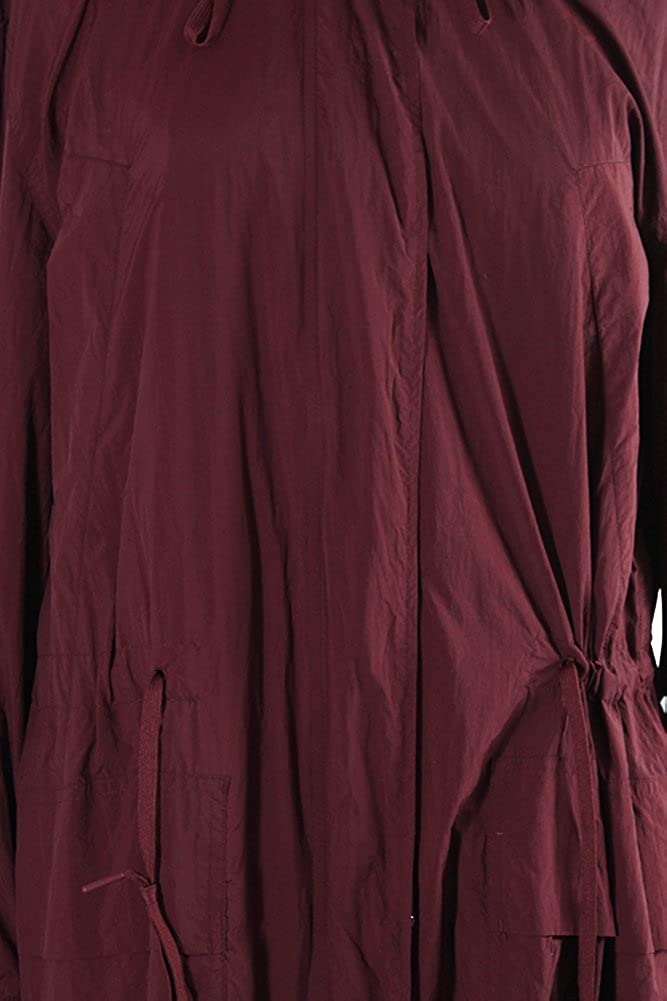 DKNY Pure Red Long-Sleeve Long Bomber Parka P