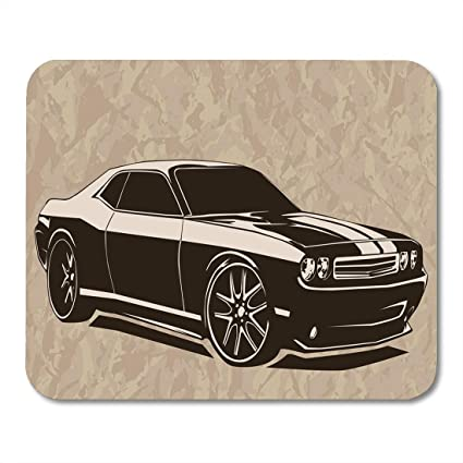 Amazon Com Emvency Mouse Pads Black American Old School Muscle