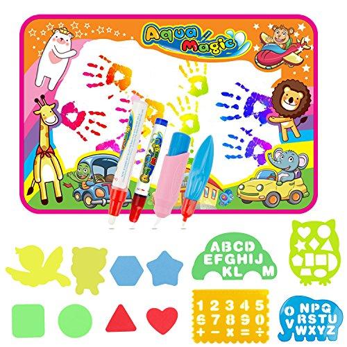 9d83047eac EXTSUD Wasser Doodle Matte Magic Matte 86x57cm Kids Baby Toddler Wasser  Zeichnen Matte Toy mit 4
