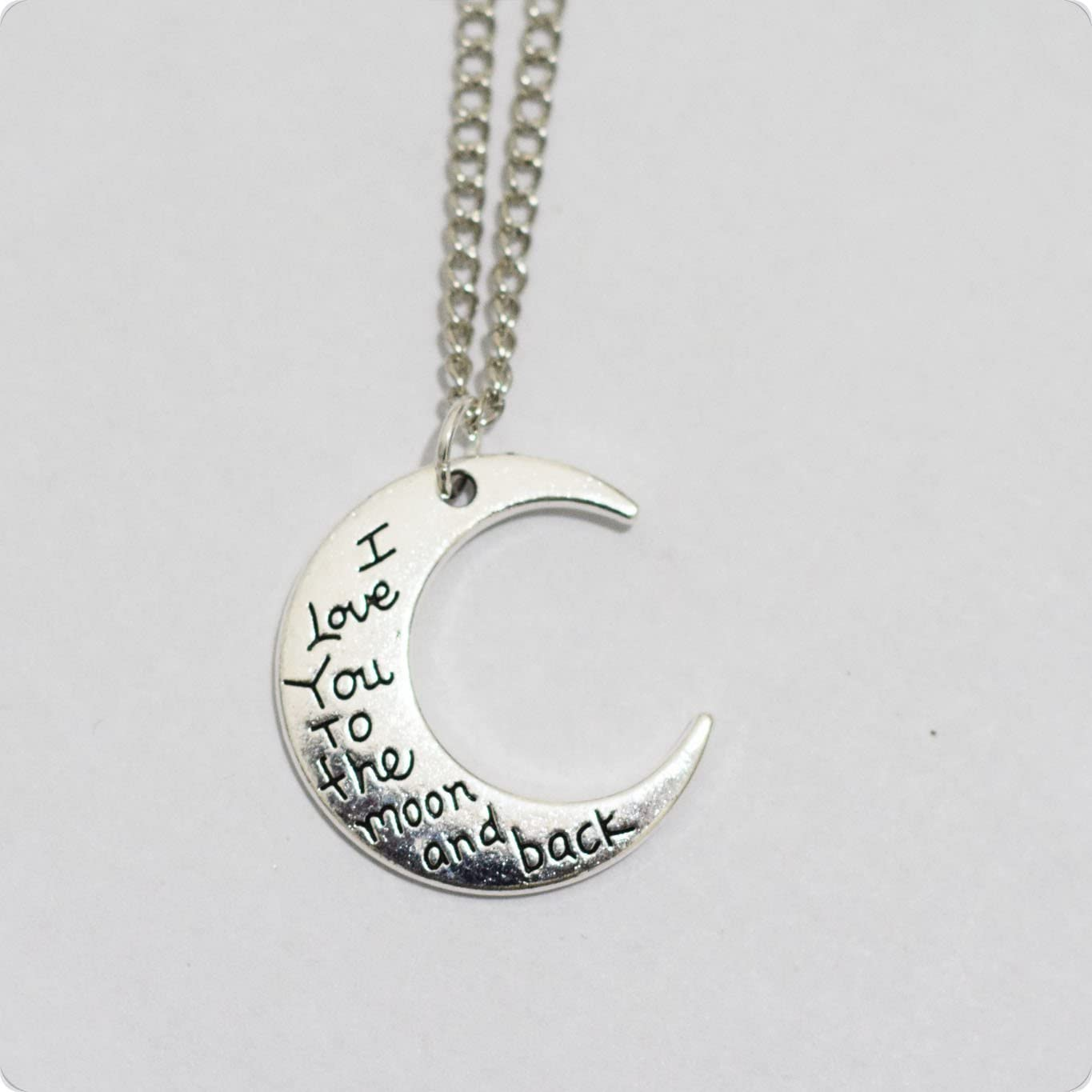 Moon Necklace- I Love You to the Moon and Back, Daughter Gift, Birthday Gift, Anniversary Gift, Wedding Surprise, Engagement Surprise Gift