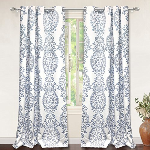 blue and white curtains - 4