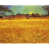 "Sunset: Wheat Fields Near Arles by Vincent Van Gogh - 20"" x 25"" Premium Canvas Print"