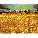 "Sunset: Wheat Fields Near Arles by Vincent Van Gogh - 20"" x 25"" Premium Canvas Print"
