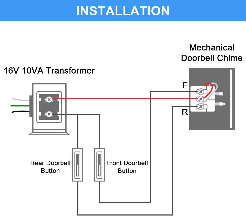 Doorbell Transformer Door Chime 16v 10va
