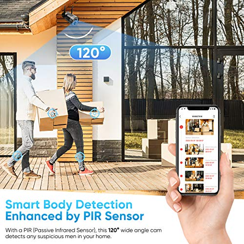 Wireless Outdoor Security Camera, KAMTRON Rechargeable Battery Powered Home Security Camera, 1080P WiFi IP Camera with PIR Motion Detection,Night Vision,2-Way Audio and Waterproof,Cloud/SD Storage