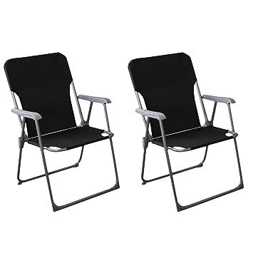 Set de 2 sillas plegables camping playa silla de jardín ...