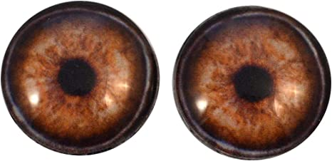 30mm Light Brown Wolf Glass Taxidermy Eyes Animal Realistic Jewelry Art Supplies