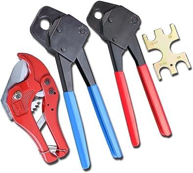 """3//4/"""" PEX Crimp Crimper Crimping Tool for PEX Tubing with Go-No-Go gauge"""