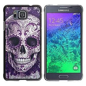 GagaDesign / Funda Carcasa protectora - Skull Bling Floral Death Metal - Samsung GALAXY ALPHA G850