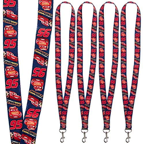 Disney (4 Pack) Character Lanyard Keychains With Lobster Clasps For Kids ID Christmas Holiday -