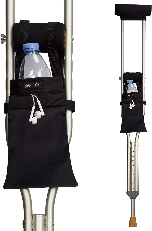 Crutch Bag Universal Crutch Accessories Bag Lightweight Underarm Crutch Pouch Carry On with Storage Pockets