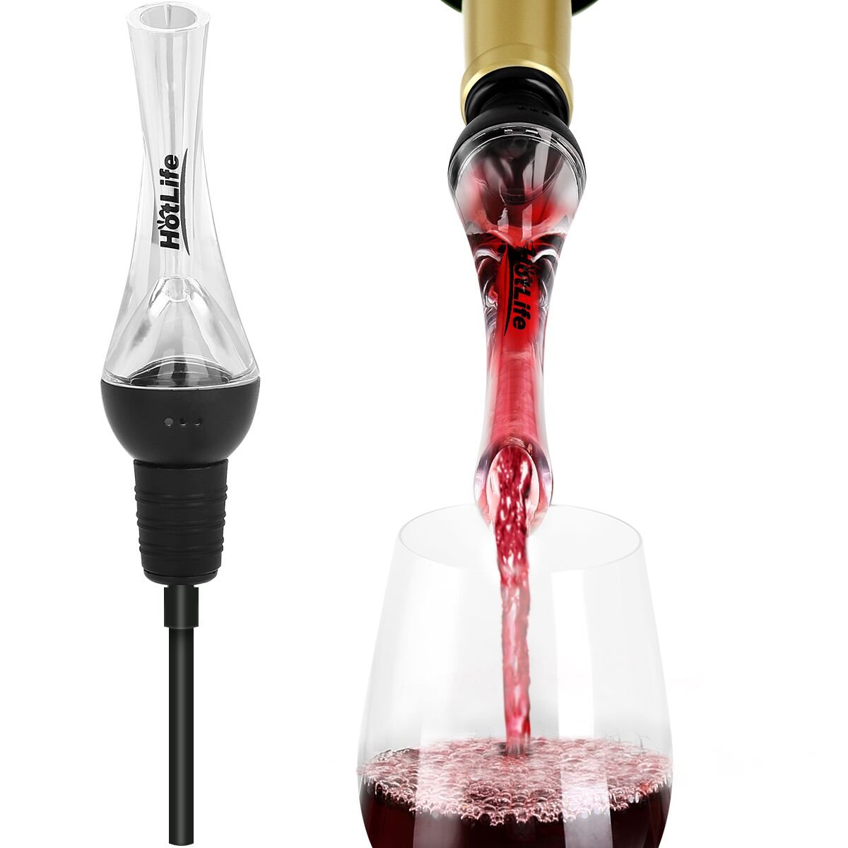 HotLife Premium Wine Aerator Pourer - Wine Decanter Spout and Best Wine Pourer