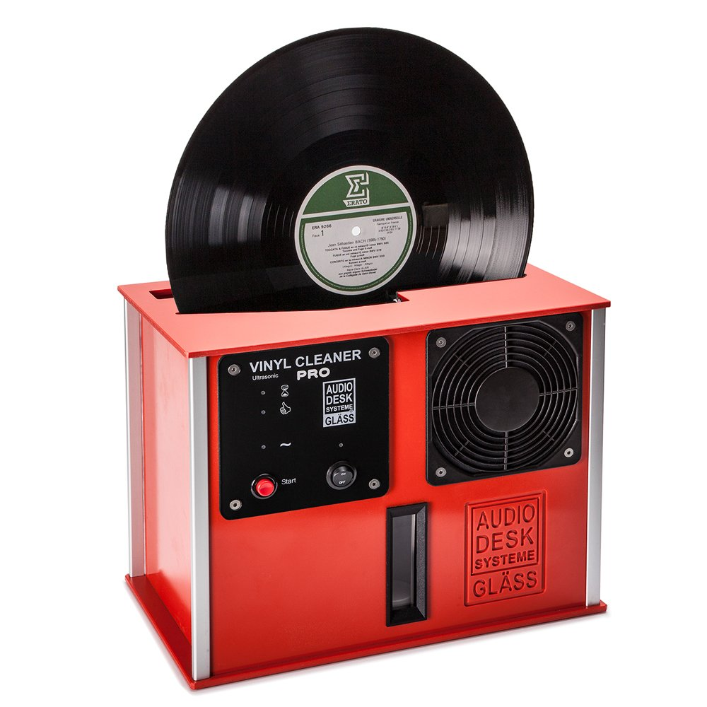 Audio Desk Systeme Premium Ultrasonic Vinyl Cleaner PRO, Red