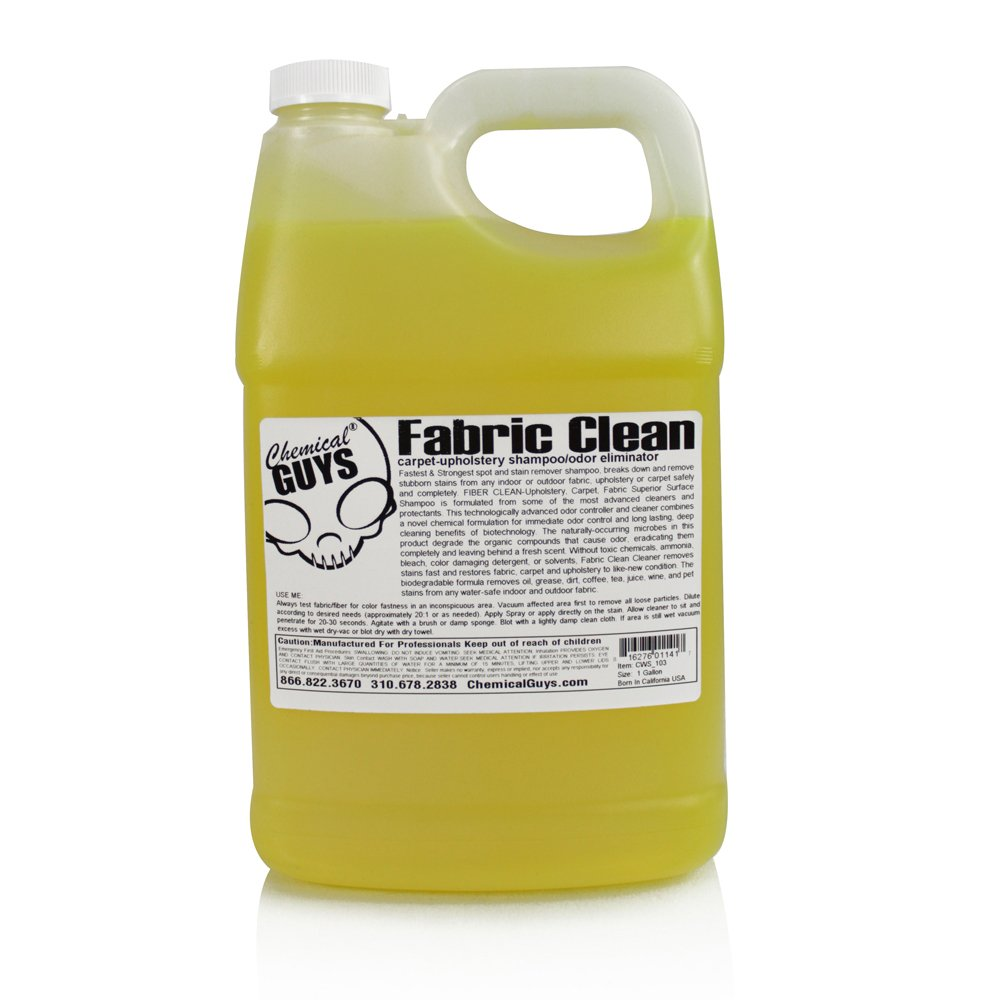 Chemical Guys CWS_103 Fabric Clean Carpet and Upholstery Shampoo and Odor Eliminator (1 Gal) by Chemical Guys