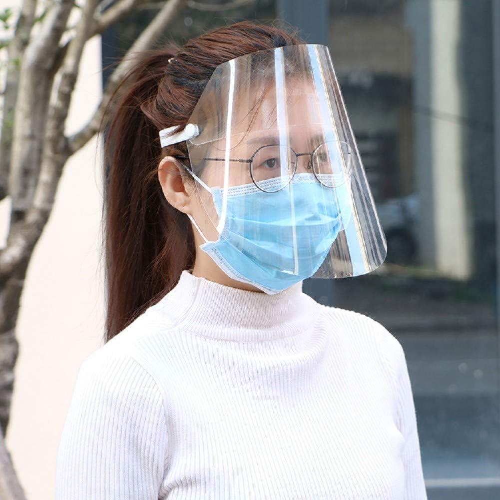 Cocina cocinar parasoles protecci/ón m/áscara Facial Visera Ojo Protecci/ón Safety 10 Piezas Pantalla Facial Aceite de Doble Cara Anti-Fog Anti Splash Transparente