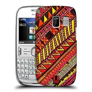 Head Case Designs Warm Aztec Doodle Hard Back Case Cover for Nokia Asha 302