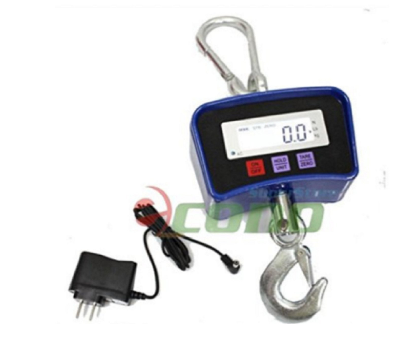 USA Premium Store Digital Crane Hanging Scale 500KG 1100LBS Heavy Duty Industrial w/LED Display