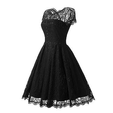 Damen Kleider Spitzenkleid-LATH.PIN Brautjungfrau Vintage ...