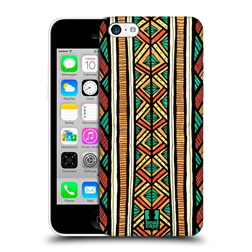 Head Case Designs Stampa Verticale Egiziana Linee Etniche Cover Retro Rigida per Apple iPhone 5c