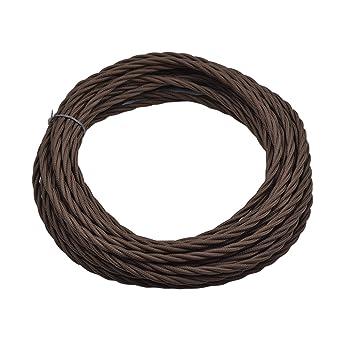 Geflochtenes elektrisches Kabel mit Vintage-Stoff, dreiadrig, für ...
